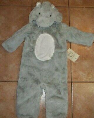 Pottery Barn Kids Halloween Baby Hippo Costume Gray 6 - 12 Months #1827 (Kids Hippo Costume)