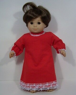 Christmas RED PAJAMA Pjs Nightgown Doll Clothes For Bitty Baby Girl Twin (Debs)