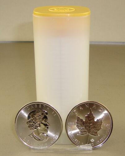 Roll of (25) 2020 1 oz Canadian Silver Maple Leaf Bullion Coins Gem Uncirculated