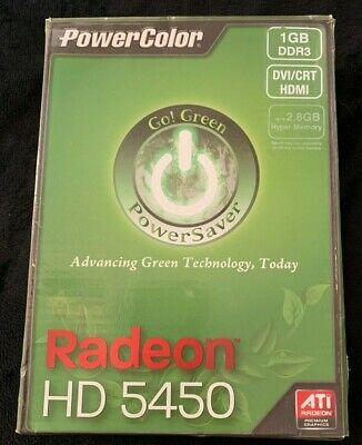 Power Color Green AMD Radeon HD5450 1GB DDR3 VGA/DVI/HDMI