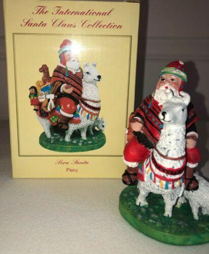 International Santa Claus Collection PERU SANTA w box SC102 Excellent FREE SHIP!