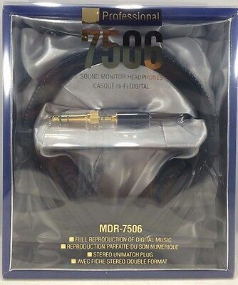 Sony - MDR-7506 - Professional Large Diaphragm Headphone - Black