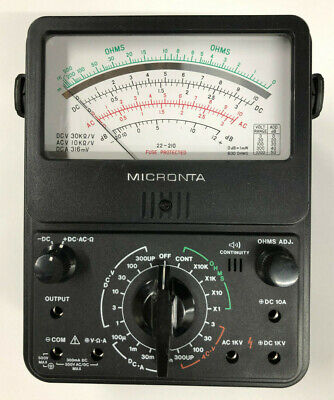 Radio Shack - Micronta 22-210 Multimeter - Excellent Condition - Free Shipping