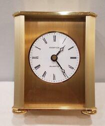 Desk And Table Carriage Clock Gold-Tone Brass service award david shapiro