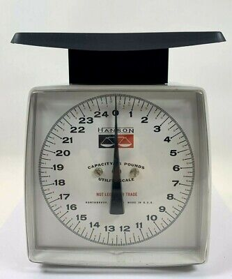 Vintage Hanson 25 # Lb Utility Kitchen Scale Weighting USA Tested And Works
