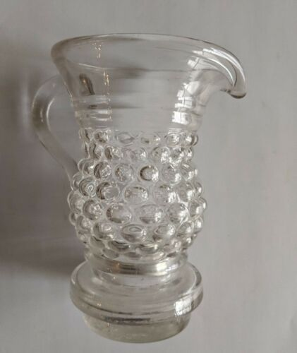 Antique Blown Three Mold Creamer Pitcher Early Glass Pontil French Continental