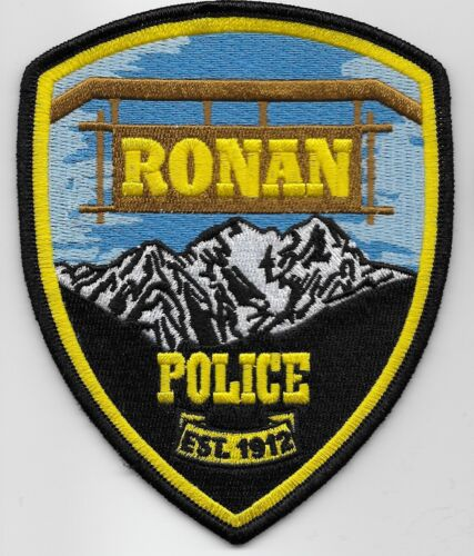 Ronan Police State Montana MT colorful NEW