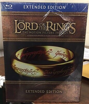 Lord Of The Rings  The Motion Picture Trilogy   Extended Edition Blu Ray New