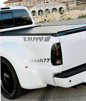 TURBO DIESEL Truck FORD F250 F350 F450 Dually Lariat XLT XL 4x4 Decal sticker S