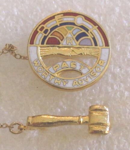 Masonic Order of the Rainbow for Girls - Past Worthy Advisor Award Pin
