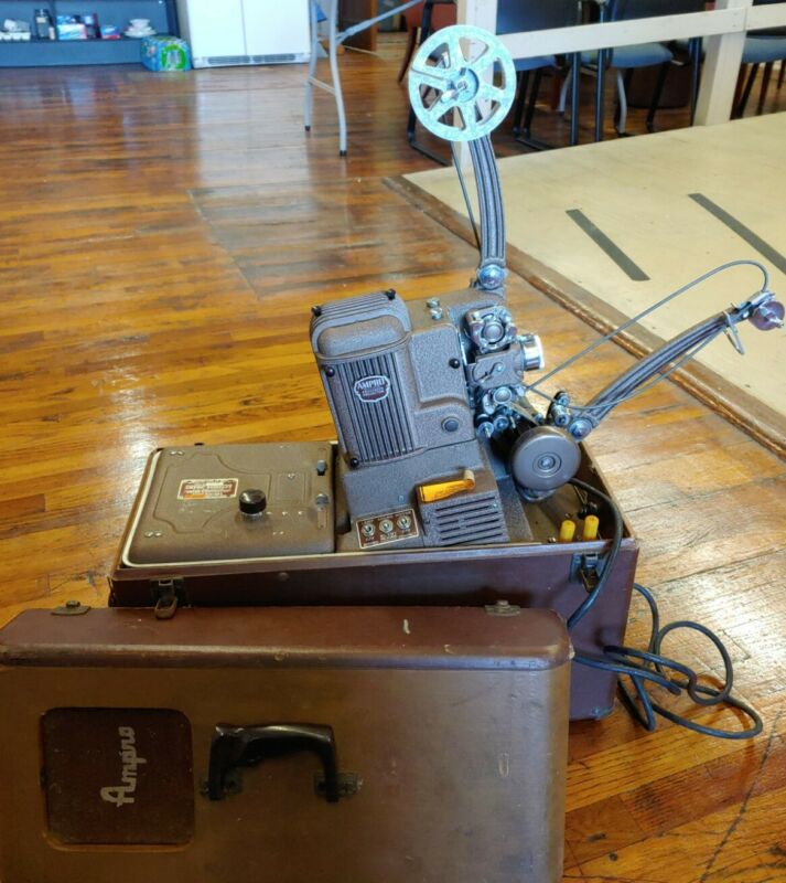Vintage Ampro Compact 16mm Film Projector ~ Works