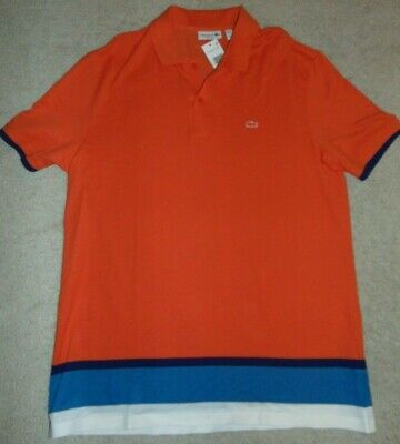 ~NWT Men's LACOSTE Short Sleeve Polo Shirt! Size XXL/7 Slim Fit Nice!!