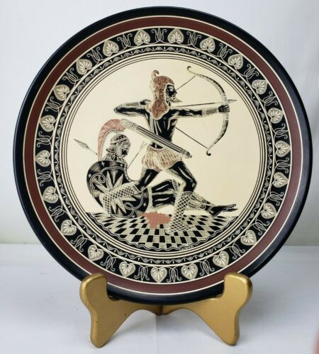 Vintage Greece Souvenir Plate - Hand Made - Collectable - Greek Arts - Athens