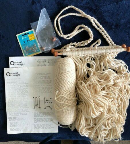 Vintage Macrame Purse Kit Artcraft Concepts #1407 Off White - Bag/Tote - Started