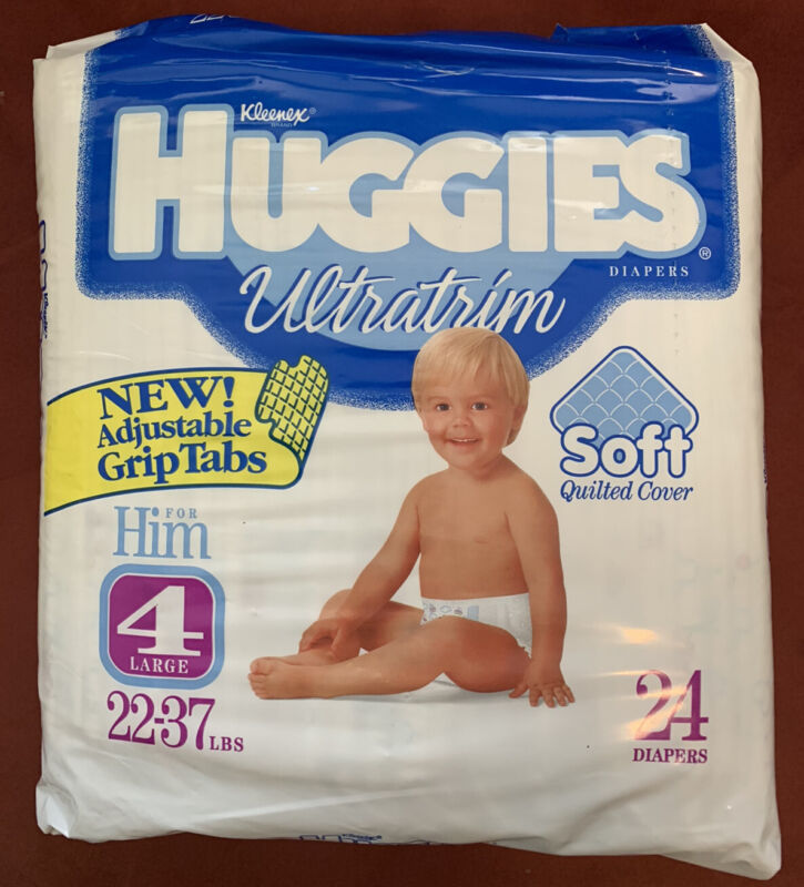 VERY RARE SEALED Vintage 1992-95 Huggies Ultratrim Him Grips Characters S4 Cnt24