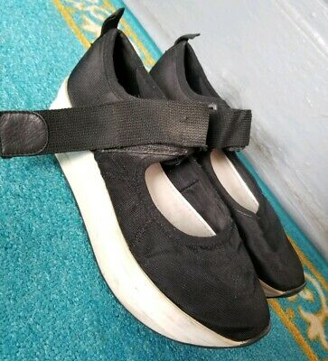 Vagabond 37 / 7 Black White Platform Mary Jane Shoes Strap Fair Condition - White Mary Jane Shoes