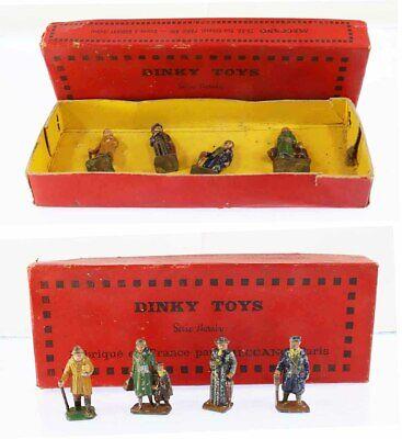 Train echelle O HORNBY 4 PERSONNAGES vers 1938 / jouet ancien
