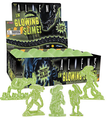 ALIENS EGG W/FIGURE SLIME TOY 12CT DISPLAY DIAMOND SELECT TOYS #soct17-153