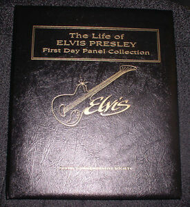 1993-POSTAL-COMM-SOCIETY-THE-LIFE-OF-ELVIS-PRESLEY-1ST-DAY-PANEL-COLLECTION
