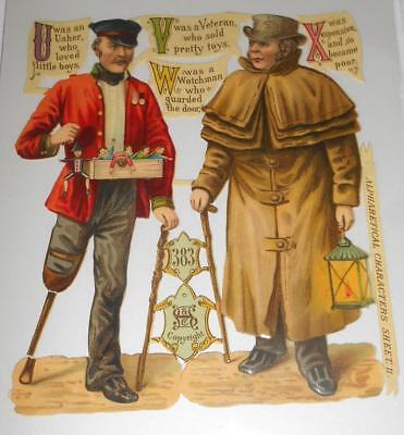 1 x Glanzbild-Scrabs -Oblate alte gestanzt - Pirat mit Soldat ca. 15 cm