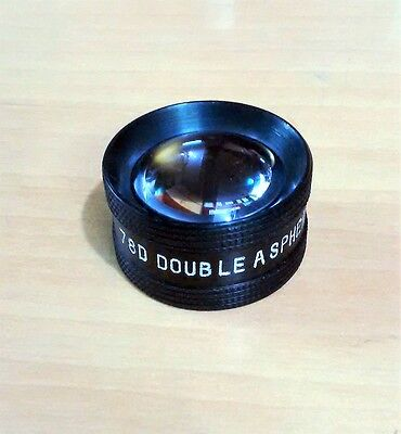 78d Double Aspheric Lens Ophthalmology Optometry W Case