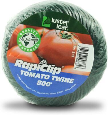 Luster Leaf Rapiclip 875 Garden Tomato GREEN Twine 800 Ft