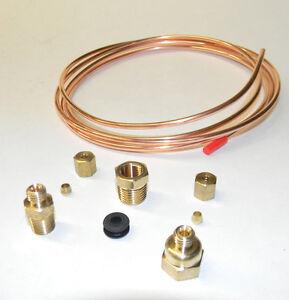 Oil Pressure Gauge Copper Tubing Line Kit 6' x 1/8
