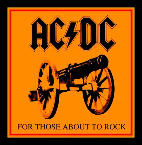 """BIG 4.25"""" AC/DC For Those About to ROCK! glossy vinyl sticker. Heavy Metal decal"""