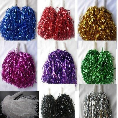 1 Pair Cheerleading pompoms Waver Fancy Dress Costume Pom Pom Dance Hen Party - Pom Dance Kostüm
