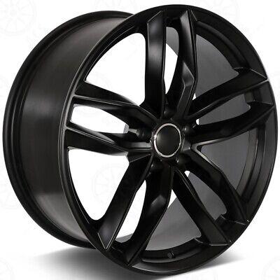 "19"" BLACK WHEELS FITS AUDI A4 A6 A8 Q3 Q5 VW PHAETON CC 19X8.5 +35 5X112 SET 4"