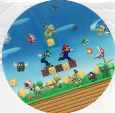 Mario und Luigi Yoshi Tortenaufleger Tortenbild Super Mario Bros WAFFEL Aufleger ()