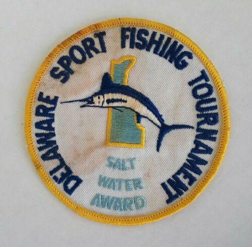 Vintage Delaware Sport Fishing Tournament Salt Water Award Embroidered Patch
