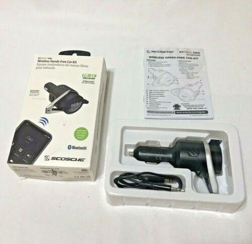 SCOSCHE BTFREQ-Pro Wireless Hands Free Car Kit Bluetooth + 2 USB Charging Ports
