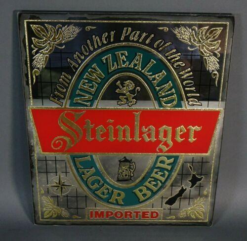 """New Zealand STEINLAGER Beer Bar Sign Mirror 10"""" x 12"""""""