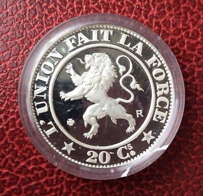 Belgique - Refrappe officielle Monnaie Royale - Rare 20 Centimes 1861 - Argent