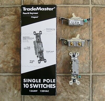 Trademaster 660-ig Pass Seymour Single Pole Switches Box Of 10