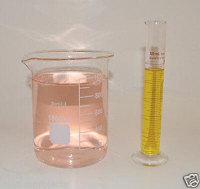 Graduated Cylinder 50 Ml Griffin Beaker 1000 Ml Set Borosilicate Glass Lab New