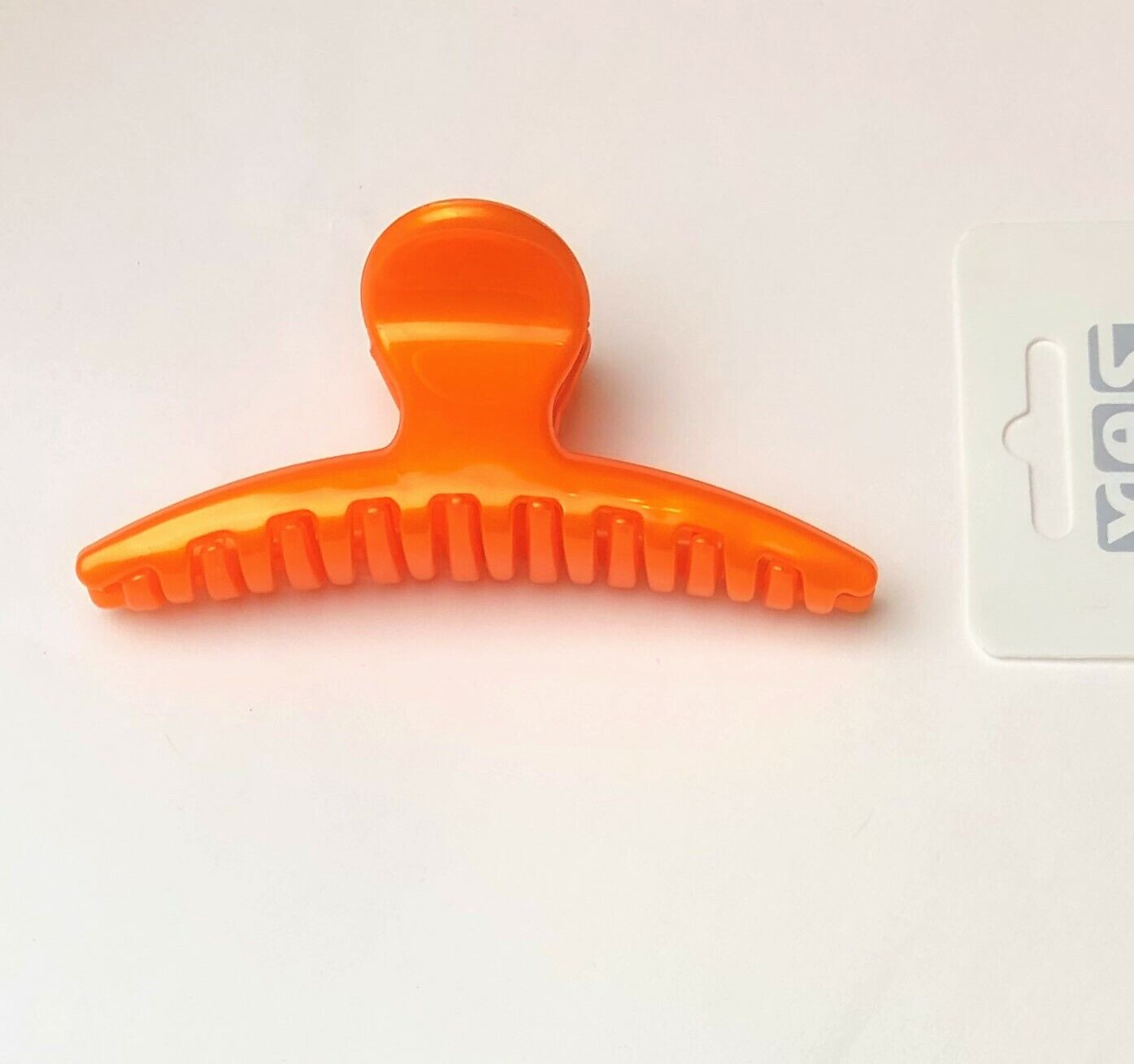Haarkrebs Haarklammer Haarkralle Haarspange Innenzahnung orange 9,7 cm x 4 cm
