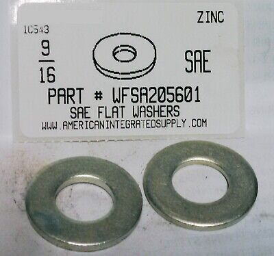 5//16 USS Pattern 25 lb Yellow Zinc Steel Flat Washers