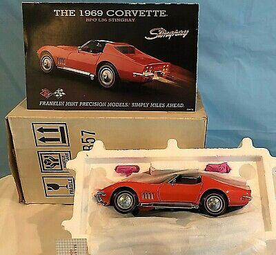 Franklin Mint Precision Diecast Model Car 1969 Chevrolet CORVETTE 1:24 Scale