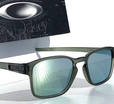 NEW* Oakley LATCH SQ Matte Olive Ink w EMERALD Grey lens Sunglass oo9358-08