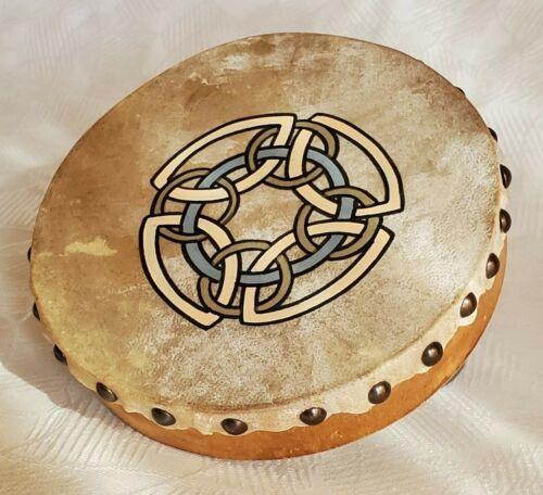 "MALACHY KEARNS 8"" BODRAN HAND DRUM ROUNDSTONE MUSIC Hand Made in IRELAND"