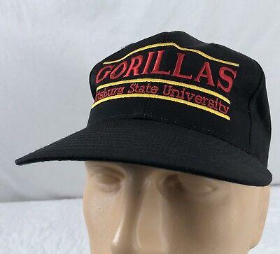 Vtg The Game Pittsburg State Gorillas Hat Cap Snapback Black Pitt