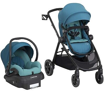 Maxi Cosi Zelia Travel System Stroller w/ Mico 30 Infant Car Seat Emerald Tide