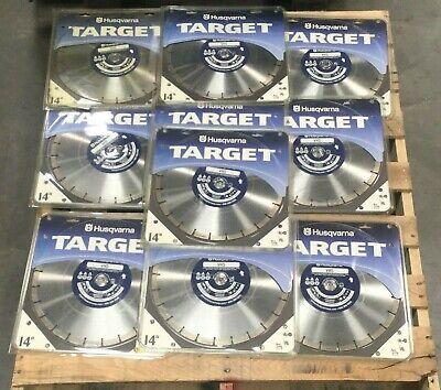 Lot Of 8 Husqvarna Target 14 Vh5 High Speed Drywet Masonry Diamond Saw Blade