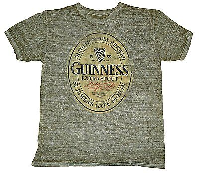 Mens Guinness Beer Tee Shirt Distressed Slim Fit Ireland Party Keg Dublin Large