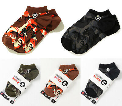 2019 F/W A BATHING APE Goods Men's - AAPE ANKLE SOCKS CAMO 3colors From Japan Ne