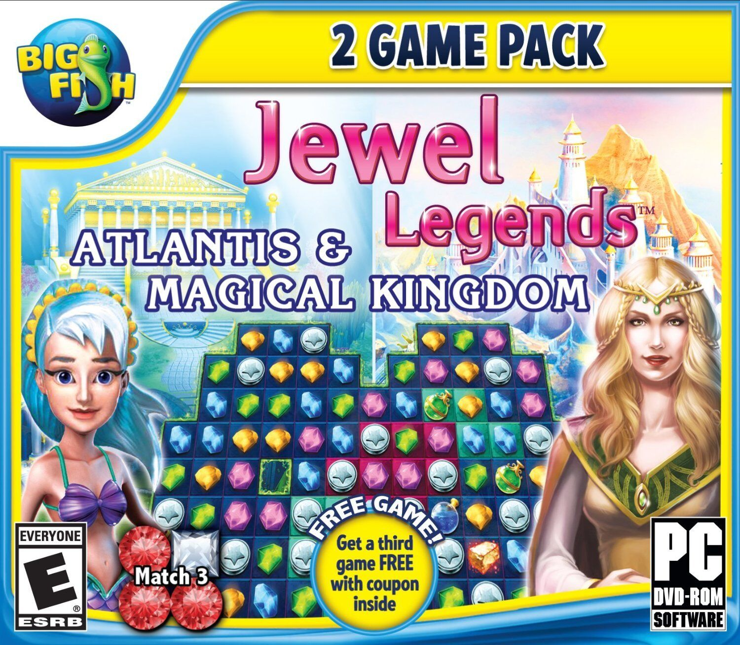 Computer Games - Jewel Legends 2 Game Pack PC Games Windows 10 8 7 XP Computer puzzles match 3