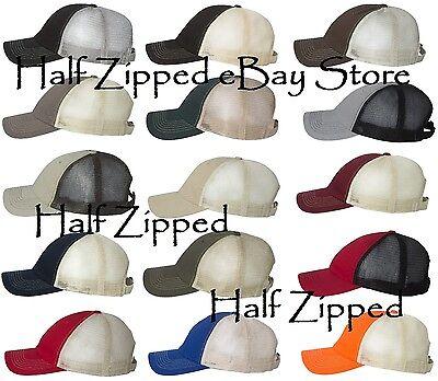 Sportsman Contrast Stitch Mesh Cap 3100 Trucker Baseball Hat 15 Colors!