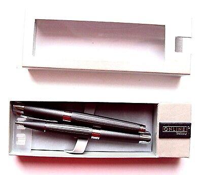 Schreibgeräteset stone grey metallic Füllhalter und Kugelschreiber Metall Online online kaufen